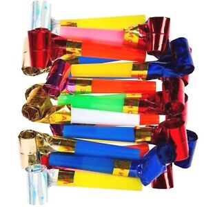 40-x-Party-Blowers-MIXED-COLOURS-Christmas-Birthday-New-Year-Noise-Loot-Bag-Toys