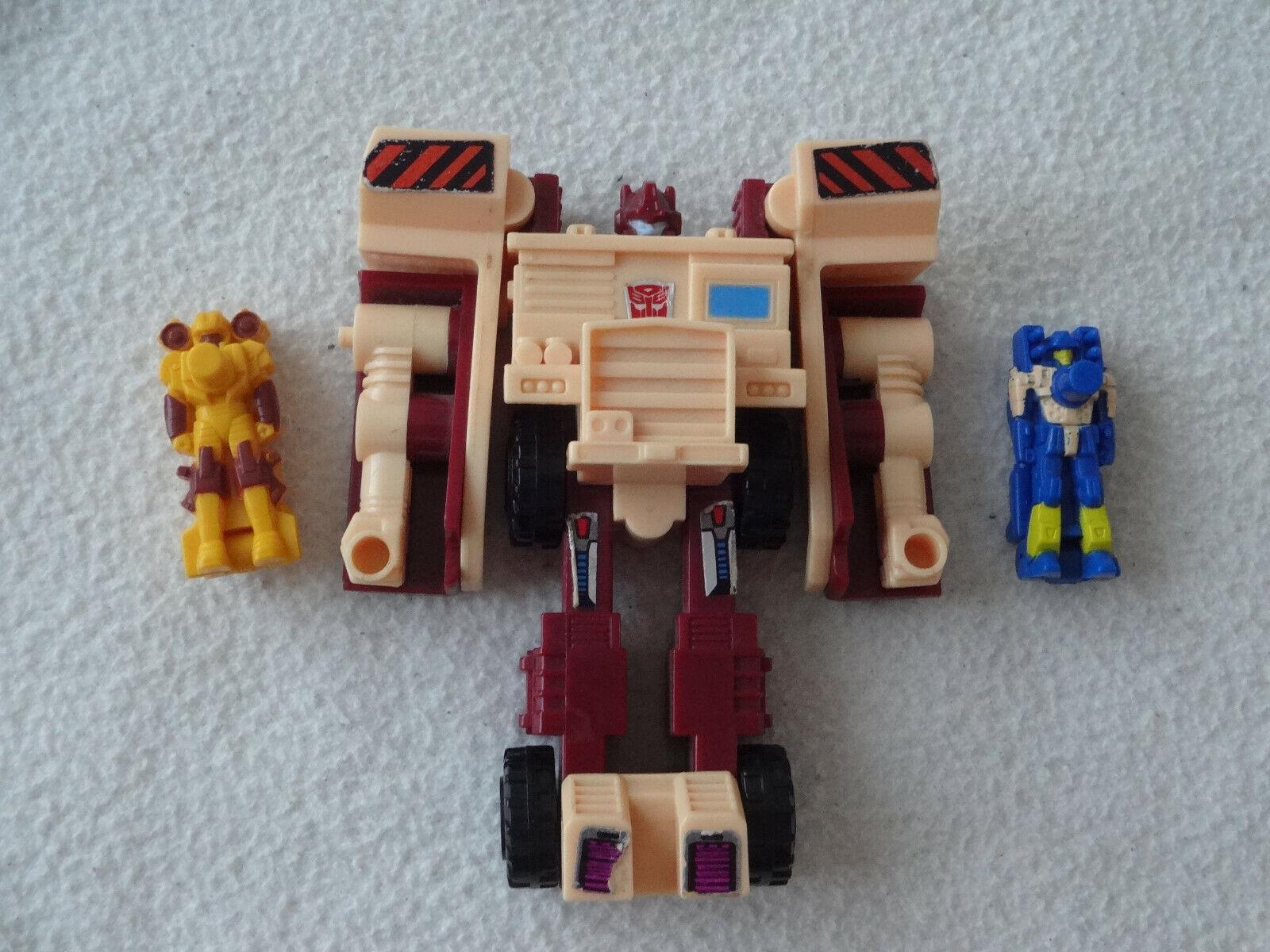 Transformers G1 Targetmasters Quickmix y verdeido Completa