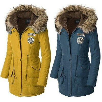 Women Winter Coat Hooded Jacket Slim Long Parka Outwear Warm Coat Outdoor Wear