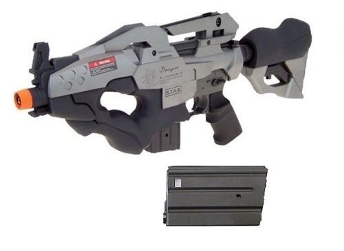 Golden Eagle Dragon Metal Gear AEG Airsoft Rifle with Extra Magazine