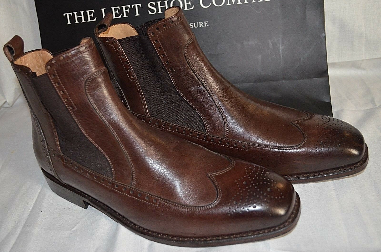 The Left Shoe Company Smart Welted Custom Made Welted Smart Brown Chelsea Boots e19c80