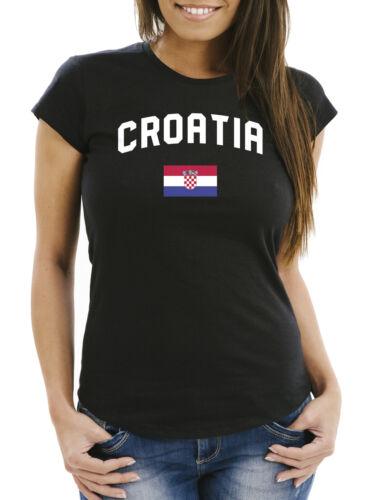 Damen Fan-Shirt Kroatien Croatia Hrvatska WM 2018 Fußball Weltmeisterschaft