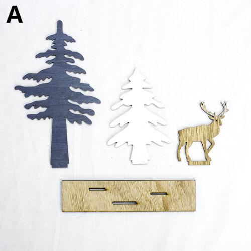 Kids Favors Decorative Supplies Xmas Ornament Wooden Crafts Elk Christmas Tree