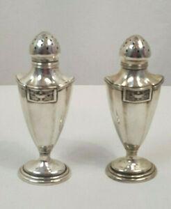 Antique Birmingham Sterling Silver Salt And Pepper Shakers 120 Grams Ebay