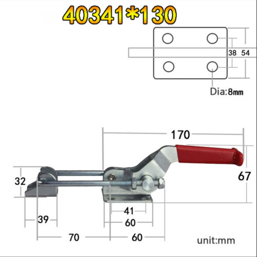 375-1980Lbs Toggle Clamp Metal Latch Catch Lock Tools Cabinet Boxes Lever Handle