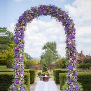 75 FT White Metal Garden Arch Wedding Bridal Prom Party Flower