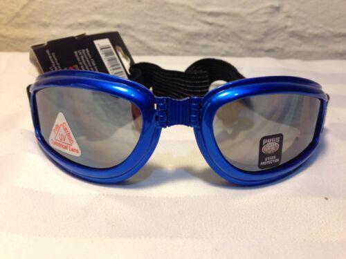Pugs Action Sport Lunettes Polycarbonate cylindrique lentilles UV400 Bleu Royal