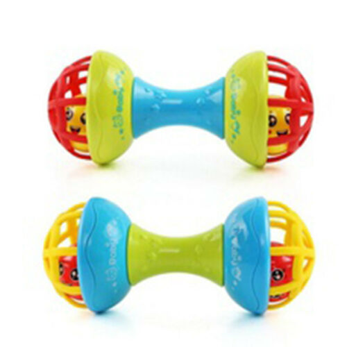 Plastic Dumbbell Design Baby Bed Bell Rattles Educational Toy Developmental Toy