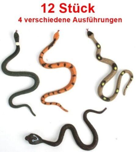 12 pezzi serpenti in Gomma serpenti circa 17 cm Serpente Bambini Festa di Compleanno