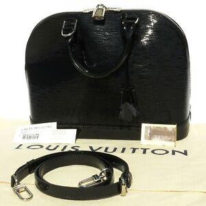 LOUIS-VUITTON-Epi-Electric-Alma-PM-Noir-Limited-Ed-Black-Patent-Leather-Strap