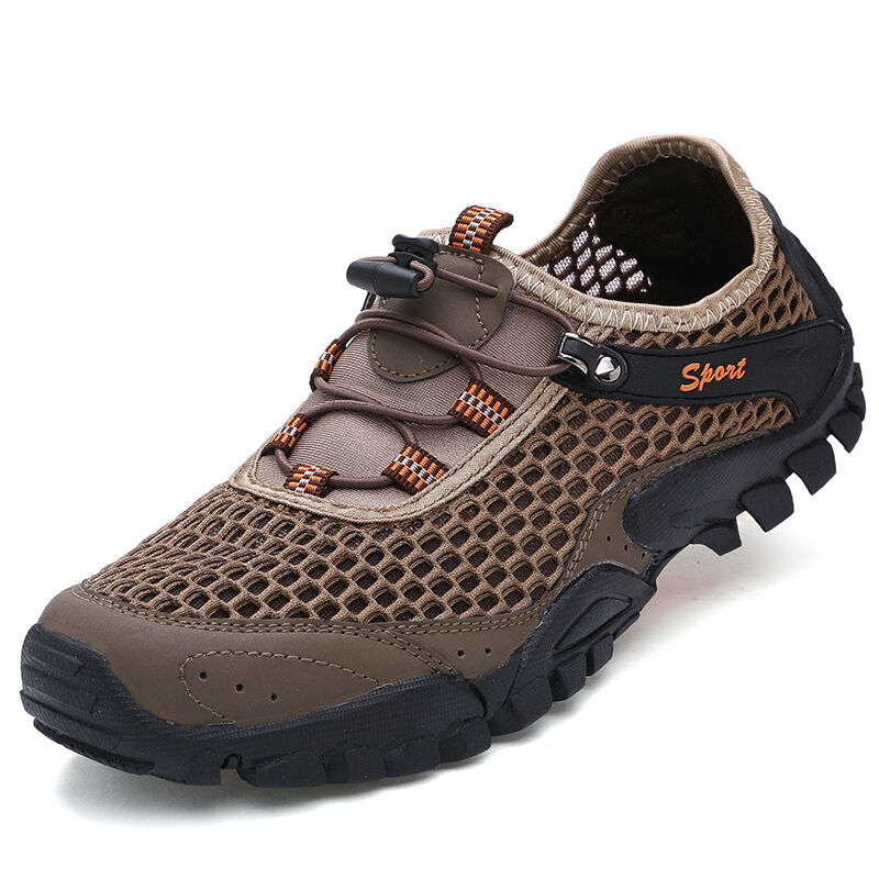 Mens Outdoor Hiking shoes Athletic Breathable Non Slip Trail Sneakers Sandals