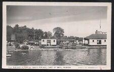 RP Postcard MUSKOKA Ontario/CANADA  Portage Flyer Tourist Railroad view 1930's