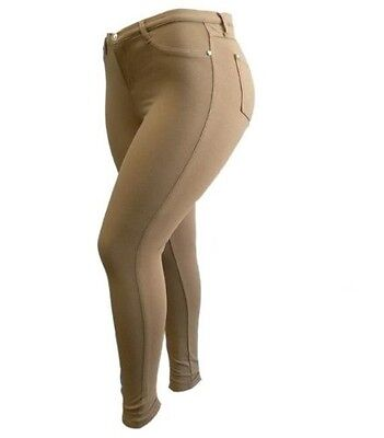 1826 Moleton High Waist Womens Plus Size Skinny Leg Stretch Cotton Jean Pants
