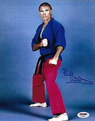 Bill Superfoot Wallace Signed Black Belt PSA//DNA COA UFC 1 Announcer Kickboxer