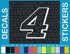 "# 4 Kevin Harvick Nascar Racing Vinyl Die Cut Window Car Truck Decal Sticker 4"""