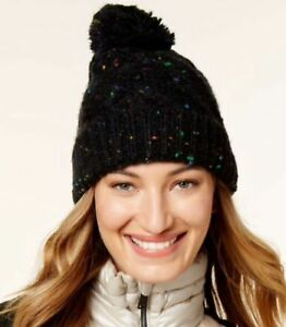 d9f796bfce6e5 Image is loading Steve-Madden-Speckled-Cable-Beanie-One-Size-Green