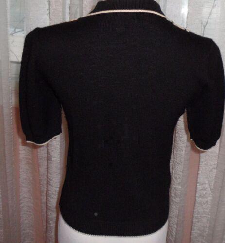 Vittadini Short uld Adrianne Små Sweater 100 Perfekt Mint Sleaves Condition vIZHqdw