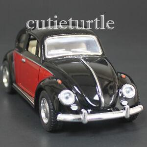 Kinsmart-1967-Classic-Volkswagen-Beetle-Bug-1-32-Diecast-Car-2-Tone-Black-Red