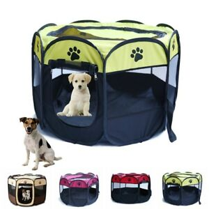 Large-Pet-Dog-Cat-Playpen-Portable-Tent-Oxford-Fabric-Fence-Kennel-Cage-Crate-UK