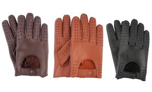 MEN-039-S-LAMBSKIN-LEATHER-FASHION-CLASSIC-DRIVING-GLOVES-CHAUFFEUR-Slim-Fit