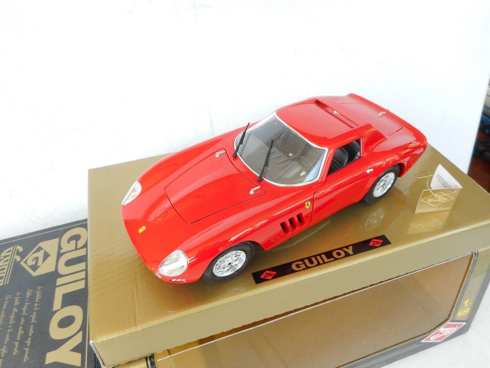 GUILOY  67525 FERRARI GTO 1964 - rouge 1 18 - EXCELLENT IN Exellent Box  nouveau style