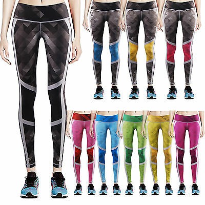 Womens COMPRESSION Workout Yoga Running SKIN training Tights LONG Pants XS~XL