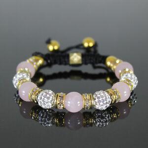 Damen-Shamballa-Armband-rosa-weiss-gold-Glitzer-Cubic-Zirkon-Kugeln-Armreif