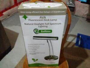 Ava Fluorescent Desk Lamp Echo Vision Natural Daylight Spectrum Lighting Ebay