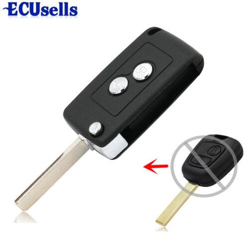 Modified Flip Folding Remote Key Shell Case Fob 2 Button For CITROEN C1 C2 C3