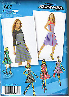 Pleated Skirt Dress Neck Sleeve Variation Simplicity Sewing Pattern 4 6 8 10 12