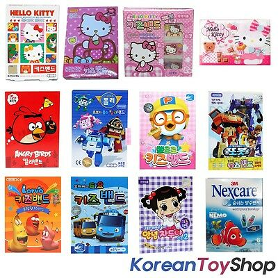 Band Aid Adhesive Bandages Plasters Character kids kitty Angry Birds Disney etc
