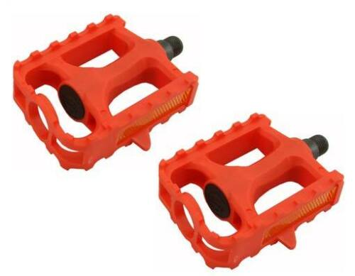 """M.T.B Pedals 861 9//16/""""  RED bmx bicycle pedal.road bicycle pedal PLASTIC 9//16"""