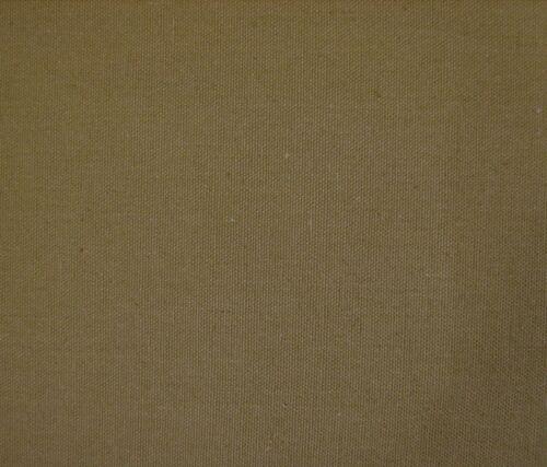 Khaki 150cm wide FREE P /& P Canvas Fabric