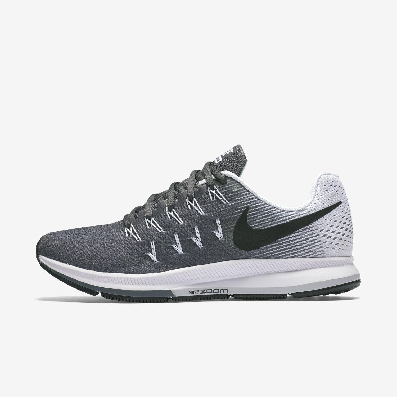 Wmns Nike Air Zoom Pegasus 33 Sz 5-12 Grey/Black/White 831356-002 FREE SHIPPING