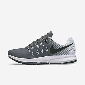 5dc69ff244cc9 Wmns Nike Air Zoom Pegasus 33 Sz 5-12 Grey Black White 831356-002 ...