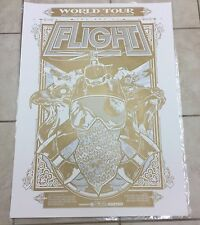 "Red Bull Art of Flight Print Poster Hand Screened Red Bull 30"" x 22"" Gold Rice"