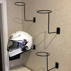 Helmet Holder Wall Mount Helmet Storage Display Rack Ball Motorcycle Helmet Wig Wall Hanger Durable Hook Display Rack Bicycle Helmet Motorcycle Helmet Holder with 4 Screws 1pc