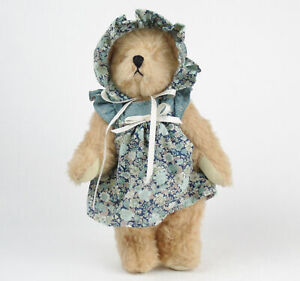 Handmade-ARTIST-TEDDY-BEAR-Jointed-Plush-SIGNED-Anne-Bradley