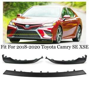3PCS For TOYOTA Camry SE XSE 2018-2020 Front Bumper Grille Lower Trim Molding