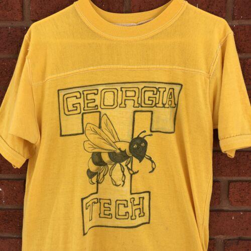 VTG 1980s Airbrush Georgia Tech Yellow Jackets T S