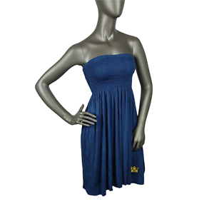 Royal-dutch-Dress-Relaxation-Fluid-Corsage-Smock-Chest-SIZE-S-Navy-Blue