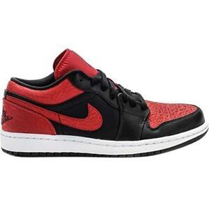 YOUTH Kids Nike Jordan 1 LOW BP 644475-013 Black Red White Bred Tops Rare New