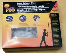 3x  50ct no ladder pro Christmas Light rapid release Clips Gutter Shingle EAVES