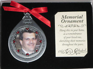 Memorial Photo Ornament God Saw Him Getting Tired Teardrop In Loving