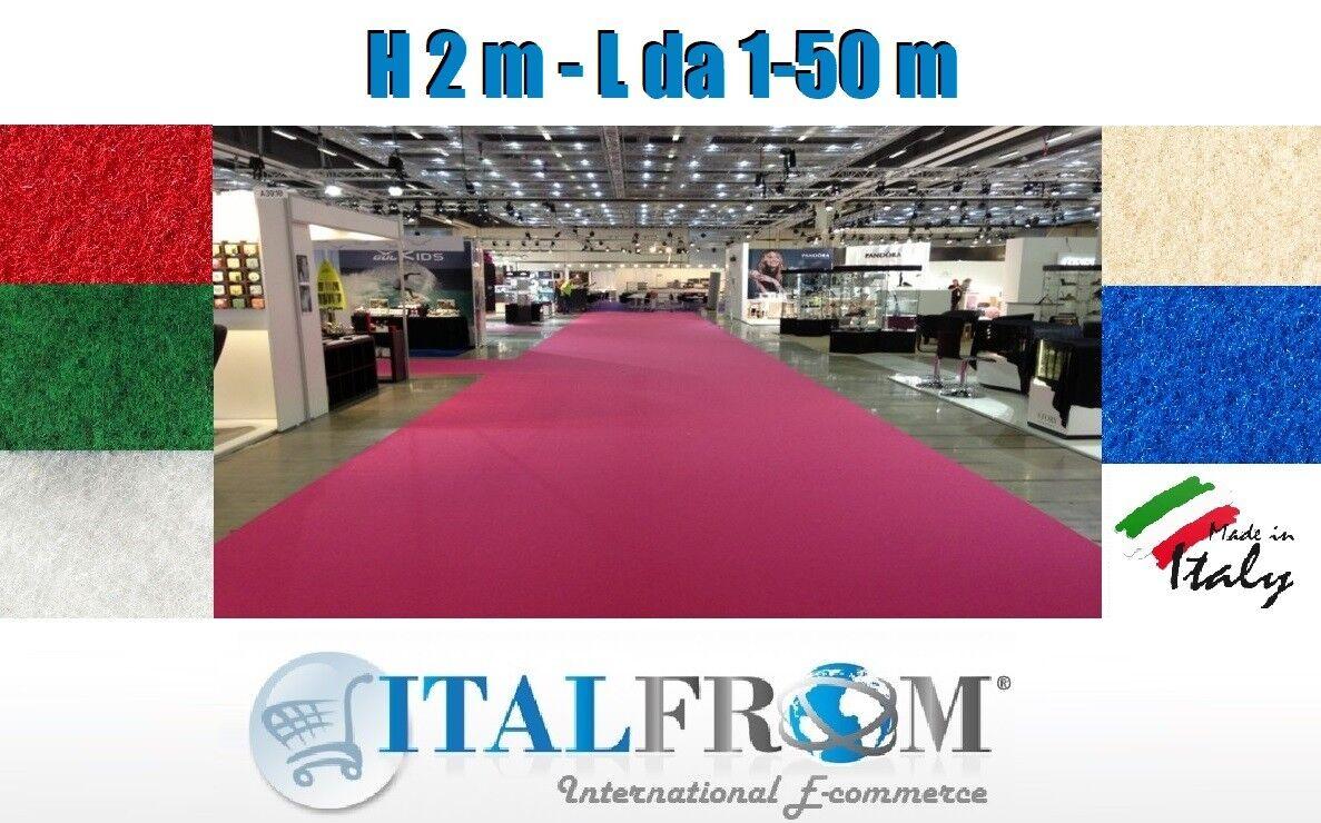 Tappeto Carpet Passatoia per Esposizione Fiera Festa Evento H 2m 2m 2m Italfrom 716e67