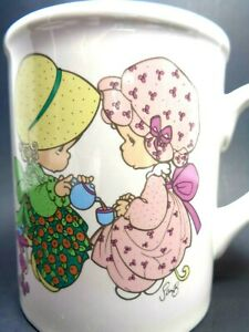VINTAGE 1994 PRECIOUS MOMENTS COFFEE CUP MUG BY ENESCO FRIENDSHIP HITS THE SPOT
