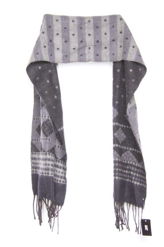 Black Grey Geometric Shape Snowflakes Like Comfortable Stylish Scarf (s35)