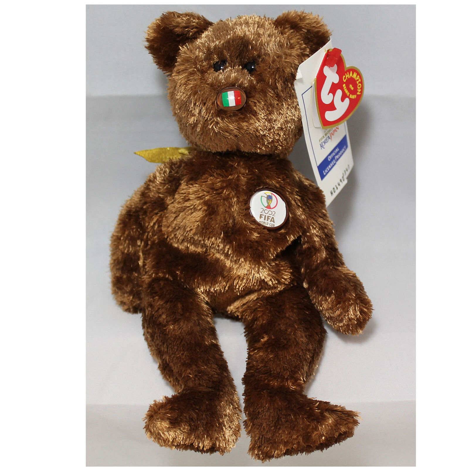 ccceb08622a Retired Ty Beanie Baby 2002 FIFA World Cup England The Champion Bear for  sale online