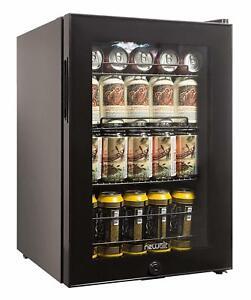 90 can beverage cooler lock refrigerator mini fridge glass door