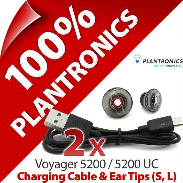 Details about Plantronics Accessory Kit Charging Cable+Ear Tips Gels Tips  for Voyager 5200, UC